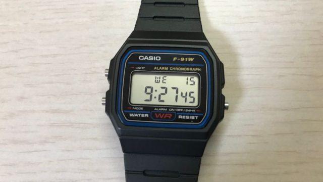 Casio f91の本体画像
