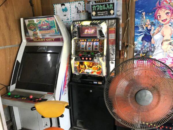 あらいやオートコーナーの店内にあるゲーム機